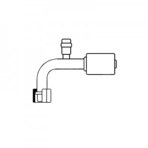 Çelik Kompresör Rekoru, Kalın Hortum, Tip #8, 10mm, 90'